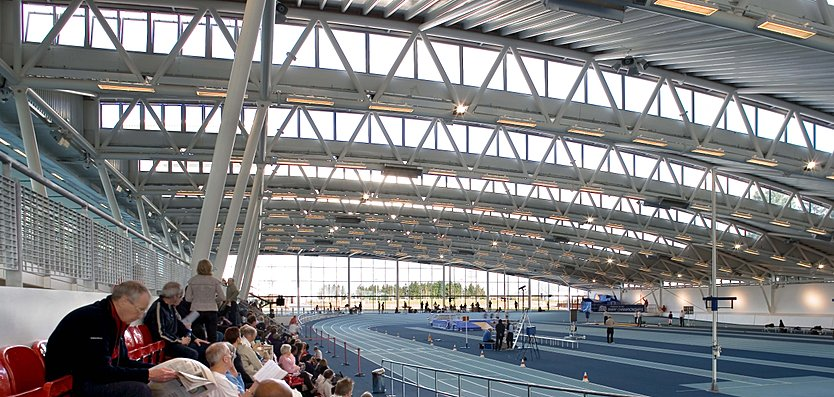 Interior view of Lee Valley Athletics Centre