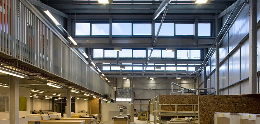 Interior view of King's Cross Construction Skills Centre