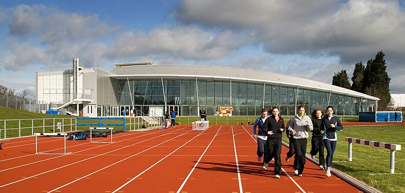 Exterior view of Lee Valley Athletics Centre