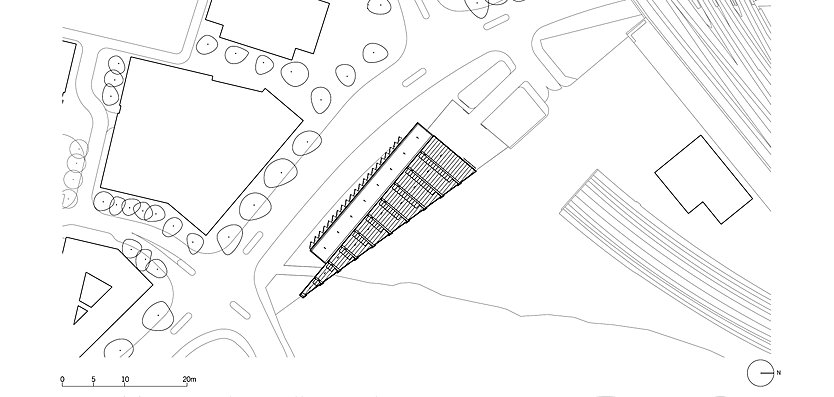 Site plan of King's Cross Construction Skills Centre