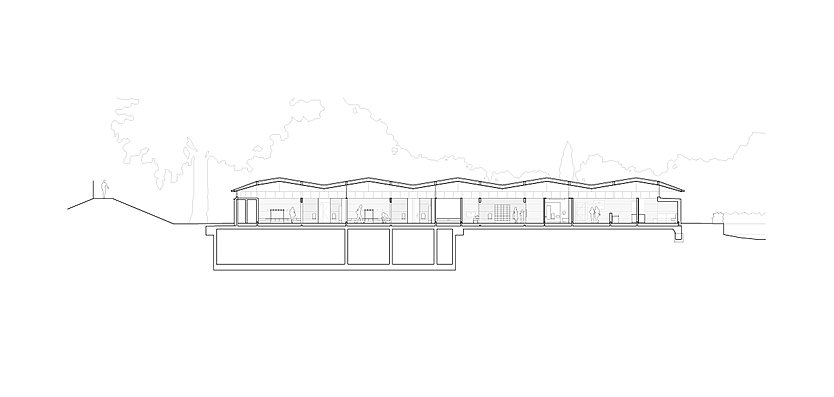 Section through the Hurlingham Club Outdoor Pool