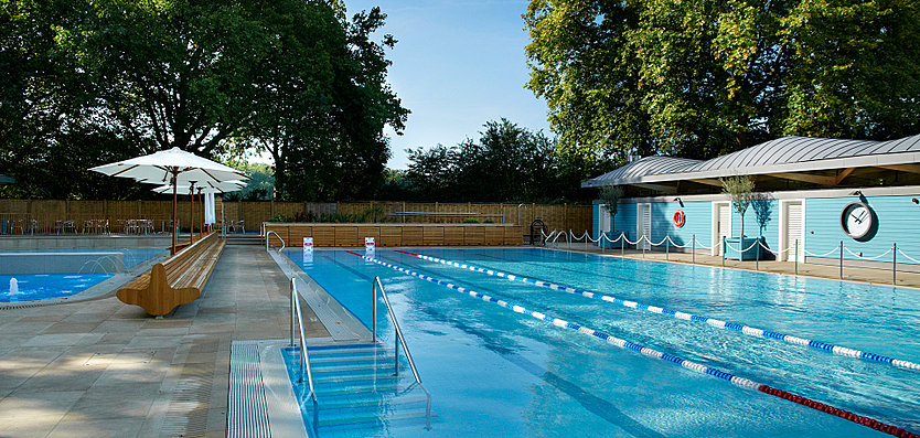 Exterior view of the Hurlingham Club Outdoor Pool