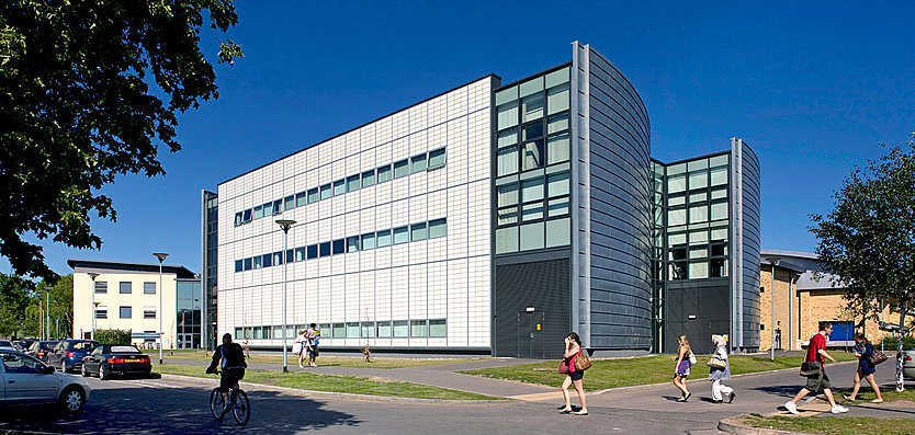 Exterior view of Health Exercise and Biosciences Building, Loughborough University